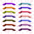 Collection of the empty color ribbons with hearts — Stock Vector
