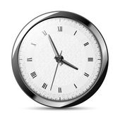 Horloge argentée — Vecteur