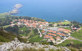 """Sonabia and """"The whale"""" rock view from the mountain. Cantabria ( — Stock Photo"""