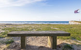 View from a seat on the beach of Berria, Cantabria (Spain). — Stock Photo