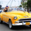 Classic old American car on the streets of Havana — Stock Photo #41994857