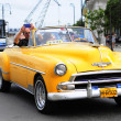Classic old Americcar on streets of Havana — стоковое фото #41994857