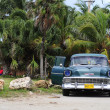Постер, плакат: Classic old American car on the streets of havana