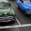 Classic old Americcars at intersection — Foto Stock #41995265