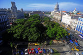 View across the Park Central towards Havana's Grand Teatro and t — Stock Photo