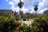 Hot day on the square in front of Capitol in Old havana — Stock Photo