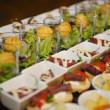 Stock Photo: Finger food arrangement - food catering
