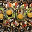 Stock Photo: Top view of finger food - food catering