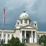 Parliament building in Belgrade, Serbia — Stock Photo