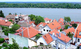 Old building roofs in Zemun part of Belgrade, Serbia — Stock Photo