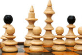 Chess figures isolated on white background — Stock Photo