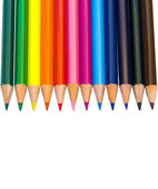 Color pencils isolated on white background — Stock Photo