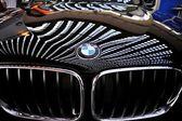 Detalhes luxuosos carro esportivo no show de carro — Fotografia Stock