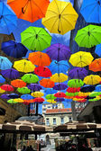 Farbige Schirme — Stockfoto