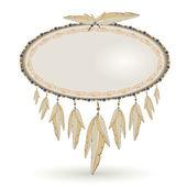 横幅一样长着羽毛的手鼓 — 图库矢量图片