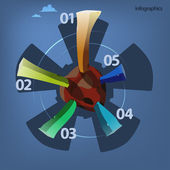 Round schedule, infographics design — Stock Vector