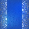 Vintage invitation silver card on folk background with lace orna — Stock Vector #45248639