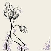 Flower design elements — Stock Vector