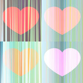 The harmony of the hearts — Stock Vector