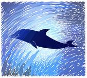 Dolfijn — Stockvector