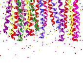 Ribbons and confetti — Stock Vector