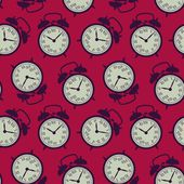 The pattern of the alarm clocks in retro style — ストックベクタ