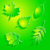 бумажные листы — Cтоковый вектор