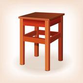 The stool. vector illustration — Stock Vector