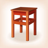 The stool. vector illustration — Stock Vector