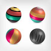 Volume balls — Stock Vector