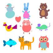 Vector figures of animals — Stock Vector