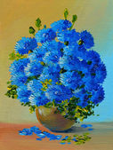 Oil Painting - still life, a bouquet of flowers — Stock Photo