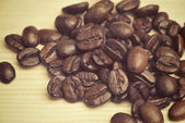 Coffee beans on the black background — Stock Photo