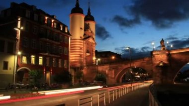 Timelapse of Traffic in Heidelberg — Stock Video