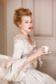Indoors shot in the Marie Antoinette style — Foto Stock