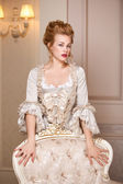 Indoors shot in the Marie Antoinette style — Stockfoto