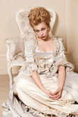 Indoors shot in the Marie Antoinette style — Stock Photo