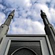Beautiful mosque with two minarets symbolizing a new religious movement — Stock Photo #43853493