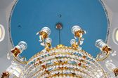 Beautiful chandelier in the Mosque — Stock Photo