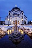 Cathedral of Saint Sava at evening, Belgrade, Serbia — Stock Photo
