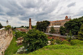 Military museum and clock tower at Belgrade fortress — Stock Photo