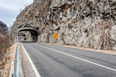Tunnel on the road in the canyon — Stock Photo