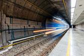 Tren borrosa — Foto de Stock