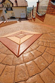 Stamped concrete — Stock Photo
