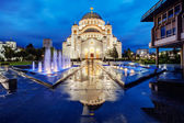 St. sava temple — Stockfoto