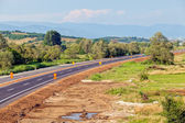 Nya asfaltväg — Stockfoto
