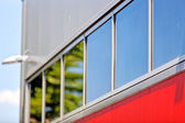 Aluminum facade and alubond panels — Stock Photo