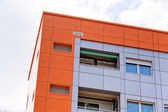 Aluminum facade and alubond panels — Stock Photo