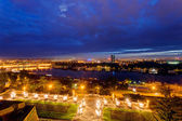View from belgrade fortress and Kalemegdan park — Stock Photo