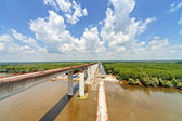 High altitude concrete bridge  — Stock Photo